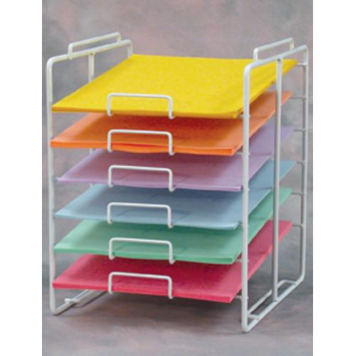 paper storage shelves Works on paper such as objects larger than 15 x 9 should be stored flat on an metal storage shelf that have solvent-free powder coatings of finely divided polymers that do not off-gas preserving your works rather than wood and oak shelving.